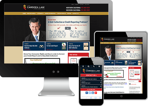 Multi-device view of Mike Cardoza's website