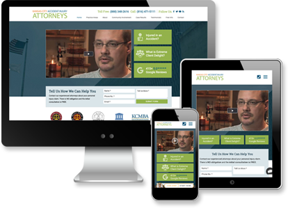 Multi-device view of Kansas City Accident Injury Attorneys website