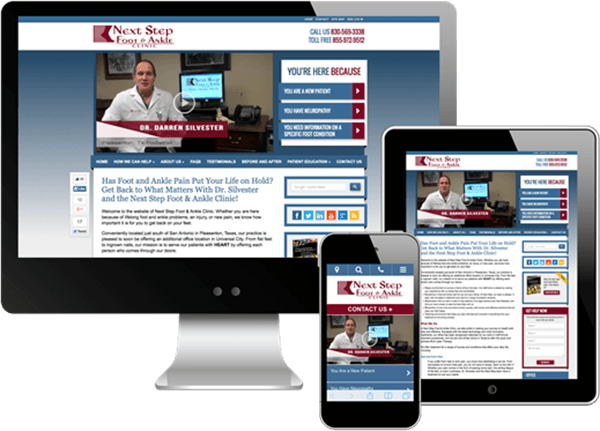 Multi-device view of >Next Step Foot and Ankle Clinic's website