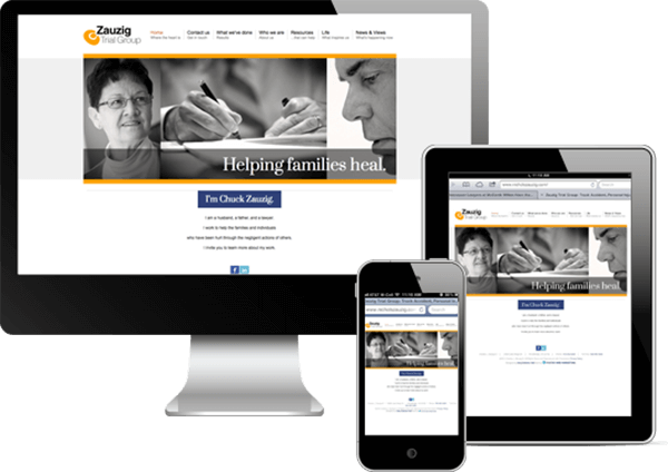Multi-device view of Zauzig Tril Group's website