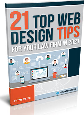 Book Cover of 12 Top Web Design Tips for Your Law Firm in 2021