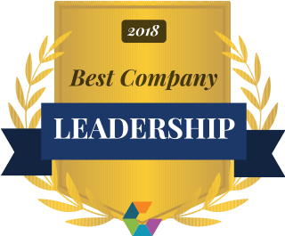 Comparably best company leadership badge
