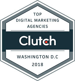 Digital marketing agencies Washington DC 2018 badge