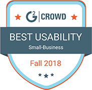 GB Best Usability Small Business Fall 2018 badge