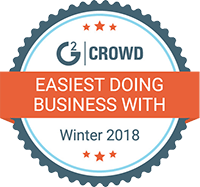 G2 easiest business winter 2018 badge