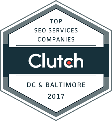 SEO companies Washington DC Baltimore 2017 badge