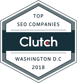 SEO companies Washington DC 2018 badge