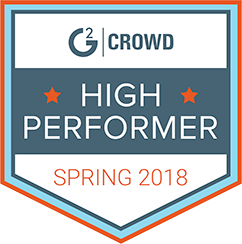 G2 high performer 2018 badge