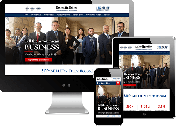 Keller and Keller Website Design