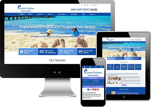 Coastal Podiatry Website Design